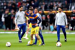 Chelsea's Jorginho during the pre-match warm up ahead of the UEFA Europa League Semi final, first leg match at The Frankfurt Stadion, Frankfurt.