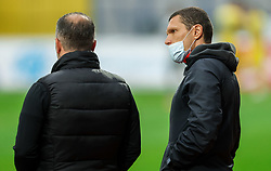 Goran Stankovic, head coach of Olimpija and his assistant Darijan Matic during football match between NK Domzale and NK Olimpija in 32nd Round of Prva liga Telekom Slovenije 2020/21, on May 5, 2021 in Sports park Domzale, Slovenia. Photo by Vid Ponikvar / Sportida