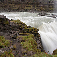 Rob standing on the edge of the Gullfoss waterfall.