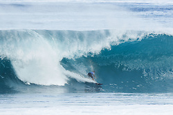 December 11, 2017 - Haleiwa, Hawaii, U.S. - Miguel Pupo of Brazil advances directly to Round Three of the 2017 Billabong Pipe Masters after winning Heat 5 of Round One at Pipe, Oahu, Hawaii, USA.  Pupo caused an upset in Round One when he defeated World No.2 Gabriel Medina (BRA)...Billabong Pipe Masters 2017. (WSL via ZUMA Wire/ZUMAPRESS.com)