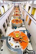 Hydroelectric generators inside of Bonneville Dam, Oregon/Washington