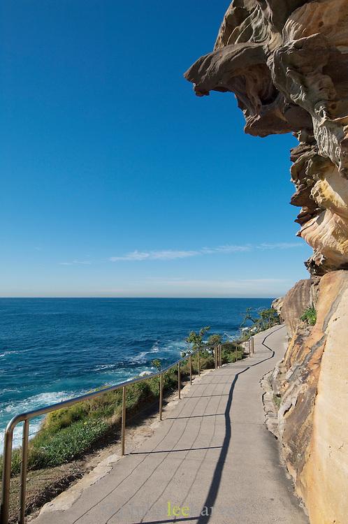 Path running along the cliffs at Bronte Beach, Sydney, New south Australia, Australia