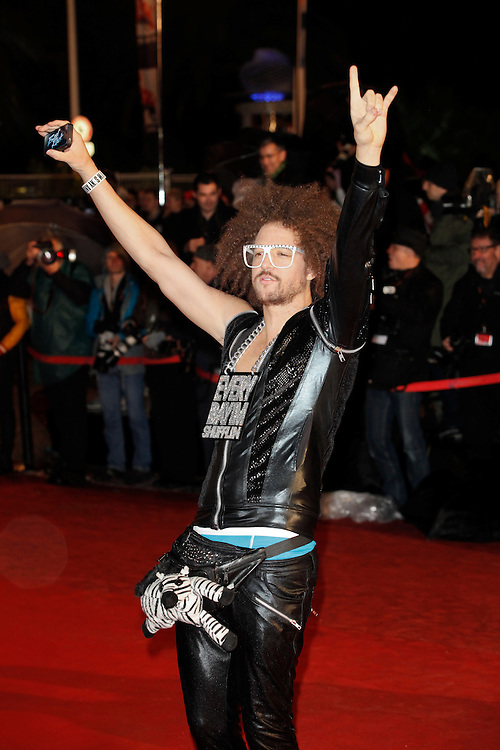 LMFAO arrives for the NRJ Music Awards 2012 at Palais des Festivals on January 28, 2012 in Cannes.LMFAO arrive pour les NRJ Music Awards 2012 au Palais des Festivals le Janvier 28 2012 à Cannes.