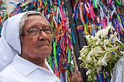 Nun, Every second 2nd Thursday in February thousands of people attend the Lavagem do Bonfim - The washing of Bonfim at the Iglesia do Bonfim - Church of Bonfim in Salvador de Bahia,