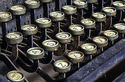 Old typewriter detail.