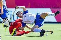 ANTWERPEN -  Scotland-England . Belfius Eurohockey Championship (men) hockey.  Lee Morton (Sco)  COPYRIGHT KOEN SUYK