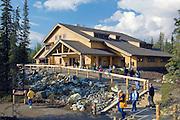 Alaska. Denali National Park. Denali Visitor's Center with interpretive displays.