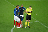 Nabil FEKIR (FRA) ball in hand, Kylian MBAPPE (FRA), Djibril SIDIBE (FRA), referee for free kick during the FIFA Friendly Game football match between France and Republic of Ireland on May 28, 2018 at Stade de France in Saint-Denis near Paris, France - Photo Stephane Allaman / ProSportsImages / DPPI