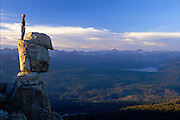 A Man Overlooking A Scenic View In The High Sierra's