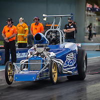 Shane Joyce (3485) leaving the Perth Motorplex start line in his Super Competition Bantam Altered.