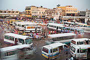 The marketplace of the capital lies between the European and African quarters. But the Chinese, as Djibouti's most important investors, are wielding more and more influence.. Crowd and buses on the Place Mahamoud Harbi (former Place Arthur Rimbaud), the heart of Djibouti where the main market is based and buses come and go out of Djibouti..The marketplace of the capital lies between the European and African quarters. But the Chinese, as Djibouti's most important investors, are wielding more and more influence...The geostrategical and geopolitical importance of the Republic of Djibouti, located on the Horn of Africa, by the Red Sea and the Gulf of Aden, and bordered by Eritrea, Ethiopia and Somalia.