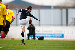 Falkirk's Mark Millar scores the equalizing goal from the penalty spot..Falkirk 1 v 1 Partick Thistle, 10/3/2012..©Michael Schofield.