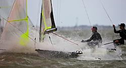 49er. Medemblik - the Netherlands, May 24th 2011. Delta Lloyd Regatta in Medemblik (26/30 May 2011). Day 1.