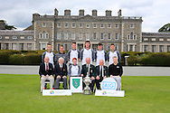 Maynooth University team winners of the AIG Senior Cup Final at the AIG Cups & Shields National Finals, Carton House, Maynooth, Co Kildare.<br /> Picture Golffile | Fran Caffrey