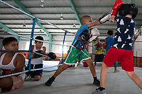Youth Boxing Class, Old Havana Cuba 2020 from Santiago to Havana, and in between.  Santiago, Baracoa, Guantanamo, Holguin, Las Tunas, Camaguey, Santi Spiritus, Trinidad, Santa Clara, Cienfuegos, Matanzas, Havana
