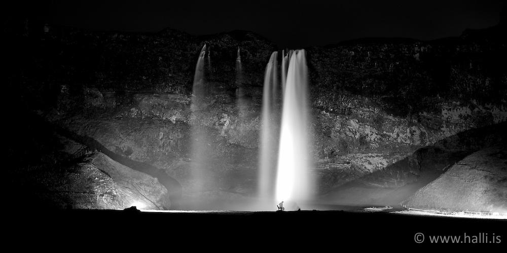 The waterfall Seljalandsfoss, south coast Iceland - Seljalandsfoss