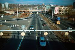 CZECH REPUBLIC BOHEMIA PRAGUE NOV03 - Prague Magistrala a main traffic artery crossing the Czech capital with lots of car and freight vehicle traffic....jre/Photo by Jiri Rezac....© Jiri Rezac 2003....Contact: +44 (0) 7050 110 417..Mobile:   +44 (0) 7801 337 683..Office:    +44 (0) 20 8968 9635....Email:   jiri@jirirezac.com..Web:     www.jirirezac.com