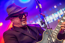 Huey Morgan, lead singer of Fun Lovin' Criminals play on the main stage. Party at the Palace 2019.