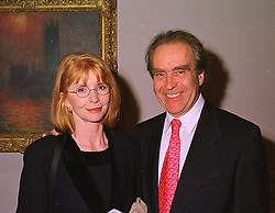 Actress JANE ASHER and her husband, cartoonist GERALD SCARFE, at an exhibition in London on 19th January 1999.MNH 3