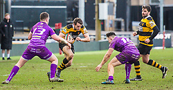 Newport's Elliot Frewen in action - Mandatory by-line: Craig Thomas/Replay images - 04/02/2018 - RUGBY - Rodney Parade - Newport, Wales - Newport v Ebbw Vale - Principality Premiership