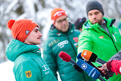 02.01.2018, Seefeld, AUT, FIS Weltcup Ski Sprung, Vierschanzentournee, Innsbruck, im Bild Richard Freitag (GER) während eines Medientermins des DSV // Richard Freitag of Germany during a Media Event of the German Skijumping Team before the 3rd Stage Insbruck of the Four Hills Tournament of FIS Ski Jumping World Cup at Seefeld, Austria on 2018/01/02. EXPA Pictures © 2018, PhotoCredit: EXPA/ JFK