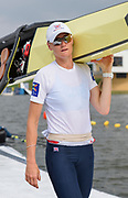 Poznan,  POLAND,  Saturday, 18/06/2016, Women's Pair, GBR W2- Bow Helen GLOVER, Heather STANNING, carry their boat from the Lake,  FISA World Cup III, Malta Lake.  FISA World Cup III, Malta Lake.[Mandatory Credit; Peter SPURRIER/Intersport-images]
