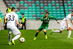Milan Tucic of NK Rudar Velenje vs Savic Stefan of NK Olimpija Ljubljana during football match between NK Olimpija Ljubljana and NK Rudar Velenje in 25rd Round of Prva liga Telekom Slovenije 2018/19, on April 7th, 2019 in Stadium Stozice, Slovenia Photo by Matic Ritonja / Sportida