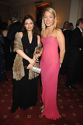 Left to right, ALIYA MAMEDOVA and ANNA BRAENNBERG at the 2008 Berkeley Dress Show at the Royal Hospital Chelsea, London on 3rd April 2008.<br />