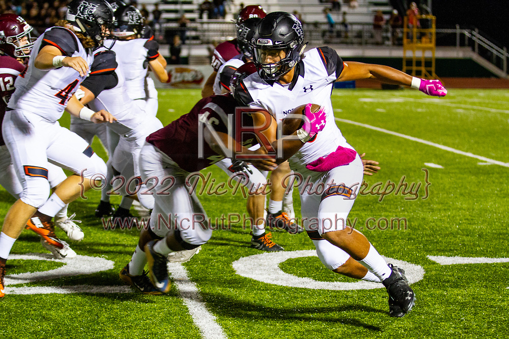 Norman's Andrew Young carries the ball for the Tigers during the game in Edmond on Friday, October 05, 2018.