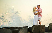 An engagement shoot held along the beaches in Asbury Park, New Jersey.