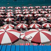 The beach in Positano, Italy.