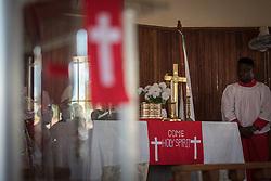 3 November 2019, Monrovia, Liberia: Sunday service at Saint Andrew Lutheran Parish in Monrovia. Part of the Lutheran Church in Liberia, the parish gathers some 220 members for prayer each week.