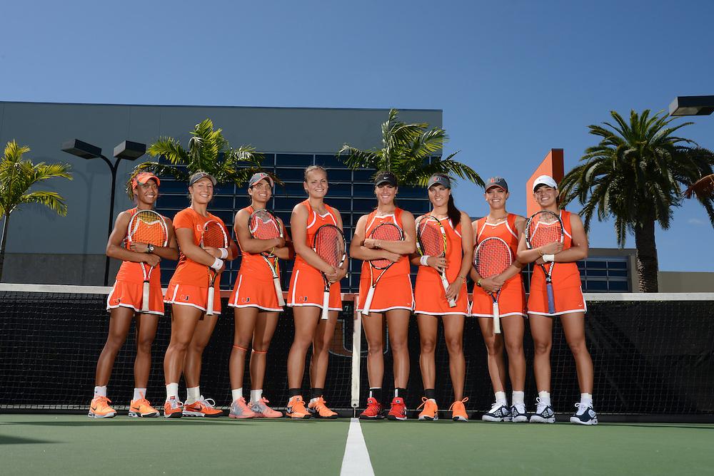 2014 Miami Hurricanes Women's Tennis Team Photo