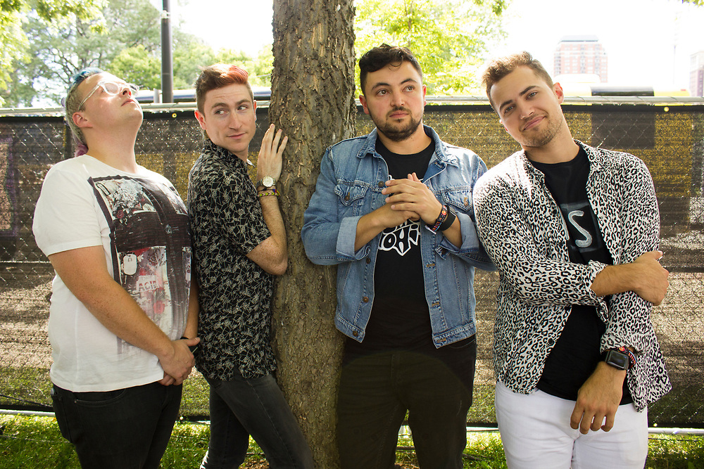 Walk The Moon backstage at Lollapalooza in Chicago, IL on August 1, 2015.