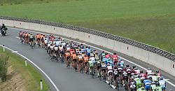 09.07.2015, Drobollach, AUT, Österreich Radrundfahrt, 5. Etappe, Drobollach nach Matrei in Osttirol, im Bild Das Hauptfeld im Drautal // the peloton in the Drautal during the Tour of Austria, 5th Stage, from Drobollach to Matrei in Osttirol, Drobollach, Austria on 2015/07/09. EXPA Pictures © 2015, PhotoCredit: EXPA/ Reinhard Eisenbauer