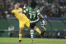 October 31, 2017 - Lisbon, Portugal - Juventus's forward Paulo Dybala (L) vies with Sporting's forward Gelson Martins during the Champions League  football match between Sporting CP and Juventus FC at Jose Alvalade  Stadium in Lisbon on October 31, 2017. (Credit Image: © Carlos Costa/NurPhoto via ZUMA Press)