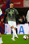 Lewis Dunk of England warms up during the International Friendly match between England and USA at Wembley Stadium, London, England on 15 November 2018.