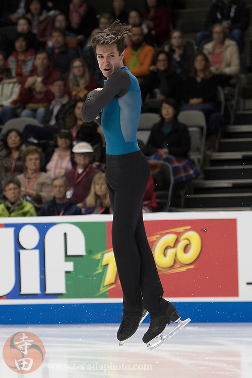 January 4, 2018; San Jose, CA, USA; Sebastien Payannet in the mens short program during the 2018 U.S. Figure Skating Championships at SAP Center.
