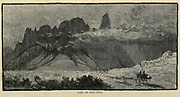 Jebel Ed Deir, Sinai Wood engraving of from 'Picturesque Palestine, Sinai and Egypt' by Wilson, Charles William, Sir, 1836-1905; Lane-Poole, Stanley, 1854-1931 Volume 4. Published in 1884 by J. S. Virtue and Co, London