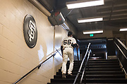 San Francisco Giants left fielder Gorkys Hernandez (66) walks to the locker room after a game at AT&T Park in San Francisco, California, on August 20, 2017. (Stan Olszewski/Special to S.F. Examiner)