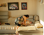 The Otgonbaatar family live in a Ger District particularly affected by air pollution.<br /> Mongolia