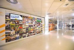 THEMENBILD, ESTADIO SANTIAGO BERNABEU, es ist das Fußballstadion des spanischen Vereins Real Madrid. Es liegt im Zentrum der Stadt Madrid im Viertel Chamartin. Seit der letzten Modernisierung im Jahr 2005 fasst es 80.354 Zuschauer und ist seit 14. November 2007 als UEFA-Elite-Stadion ausgezeichnet, der hoechsten Klassifikation des Europaeischen Fußballverbandes. Das Stadion wurde am 14. Dezember 1947 als Nuevo Estadio Chamartin mit 75.000 Plaetzen offiziell eroeffnet. Am 14. Januar 1955 stimmte die Mitgliederversammlung des Klubs für die Umbenennung des Stadions zu Ehren des damaligen Vereinspraesidenten Santiago Bernabeu, nach dessen Vision die Spielstaette gebaut wurde. Im Bild Ausstellung im Museum. Bild aufgenommen am 27.03.2012. EXPA Pictures © 2012, PhotoCredit: EXPA/ Eibner/ Michael Weber..***** ATTENTION - OUT OF GER *****