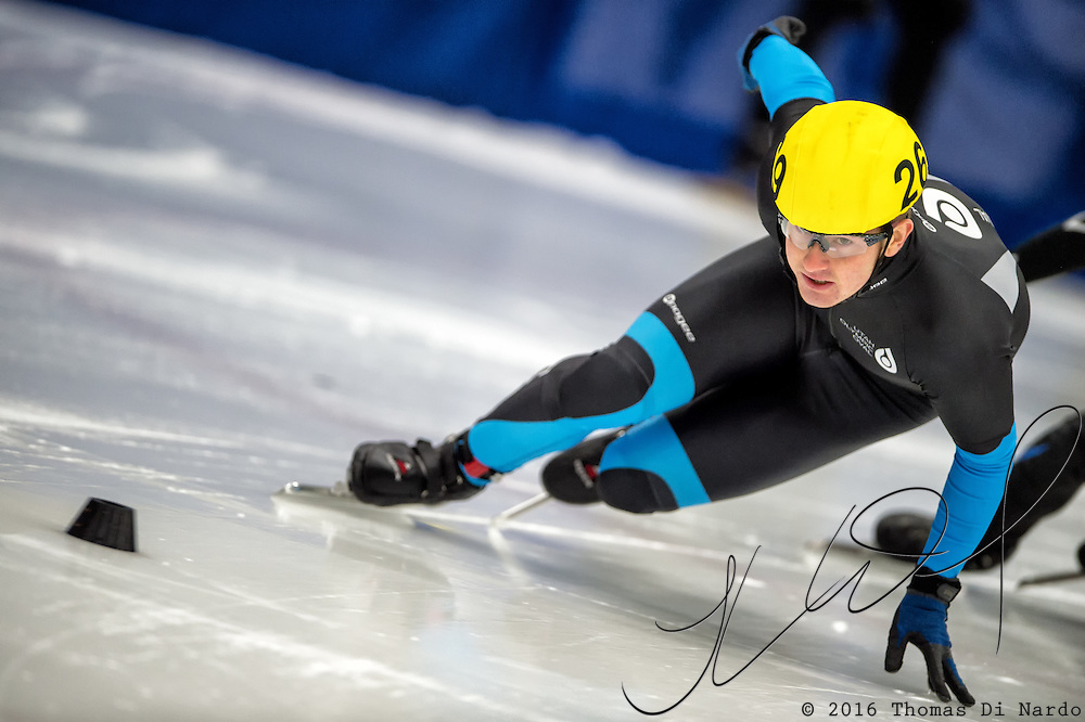 March 19, 2016 - Verona, WI - Tyler Kroll, skater number 269 competes in US Speedskating Short Track Age Group Nationals and AmCup Final held at the Verona Ice Arena.