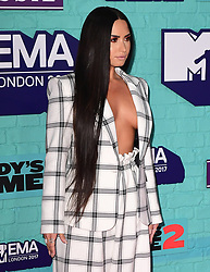 Demi Lovato attending the MTV Europe Music Awards 2017 held at The SSE Arena, London.