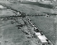 1920 Air circus at Chaplin Airdrome (foreground) and at DeMille Field #2 (at left) at Wilshire & Fairfax Blvds.