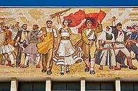 Albanie, Tirana, place Skanderbeg, musée d'histoire // Albania, Tirana, Skanderbeg square, History museum