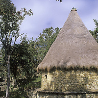A reconstructed circular house at Kuelap, in northern Peru's Cordillera Central, hints at the lifestyle in this ancient stronghold of the pre-Incan Chachapoyan culture.