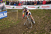 Friday 1 November 2013: Sanne Cant on a descent during the Koppenbergcross 2013 women's race. She would finish the race in 2nd place. Copyright 2013 Peter Horrell