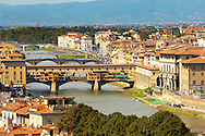 Panoramic view of The Ponte Vecchio - Florence Italy. .<br /> <br /> Visit our ITALY PHOTO COLLECTION for more   photos of Italy to download or buy as prints https://funkystock.photoshelter.com/gallery-collection/2b-Pictures-Images-of-Italy-Photos-of-Italian-Historic-Landmark-Sites/C0000qxA2zGFjd_k<br /> .<br /> <br /> Visit our MEDIEVAL PHOTO COLLECTIONS for more   photos  to download or buy as prints https://funkystock.photoshelter.com/gallery-collection/Medieval-Middle-Ages-Historic-Places-Arcaeological-Sites-Pictures-Images-of/C0000B5ZA54_WD0s