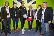 Forest Green Rovers Theo Archibald(18) man of the match with the match ball sponsors during the EFL Sky Bet League 2 match between Forest Green Rovers and Stevenage at the New Lawn, Forest Green, United Kingdom on 21 August 2018.